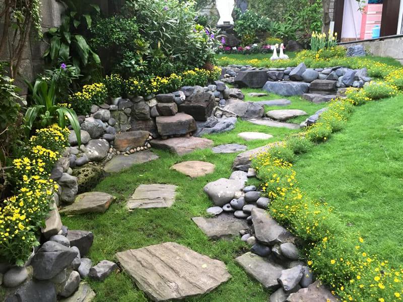 Chọn Vật Liệu Xây Dựng Sân Vườn Biệt Thự