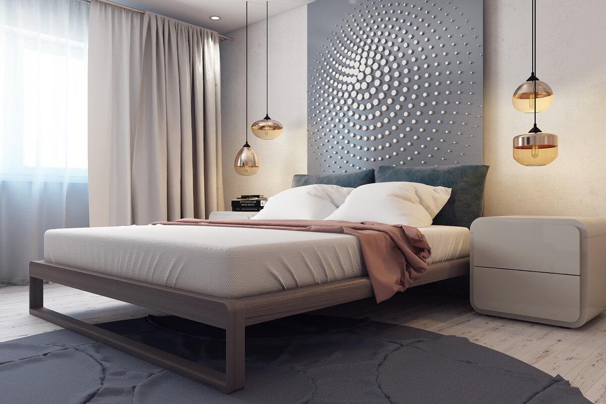 Mẫu Thiết Kế Phòng Ngủ Đẹp Với Họa Tiết Trên Tường
