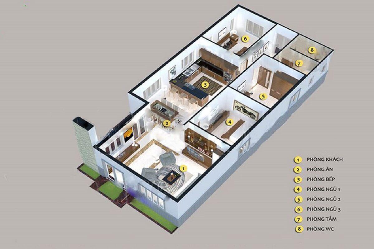 Nhà Cấp 4 Có 4 Phòng Ngủ