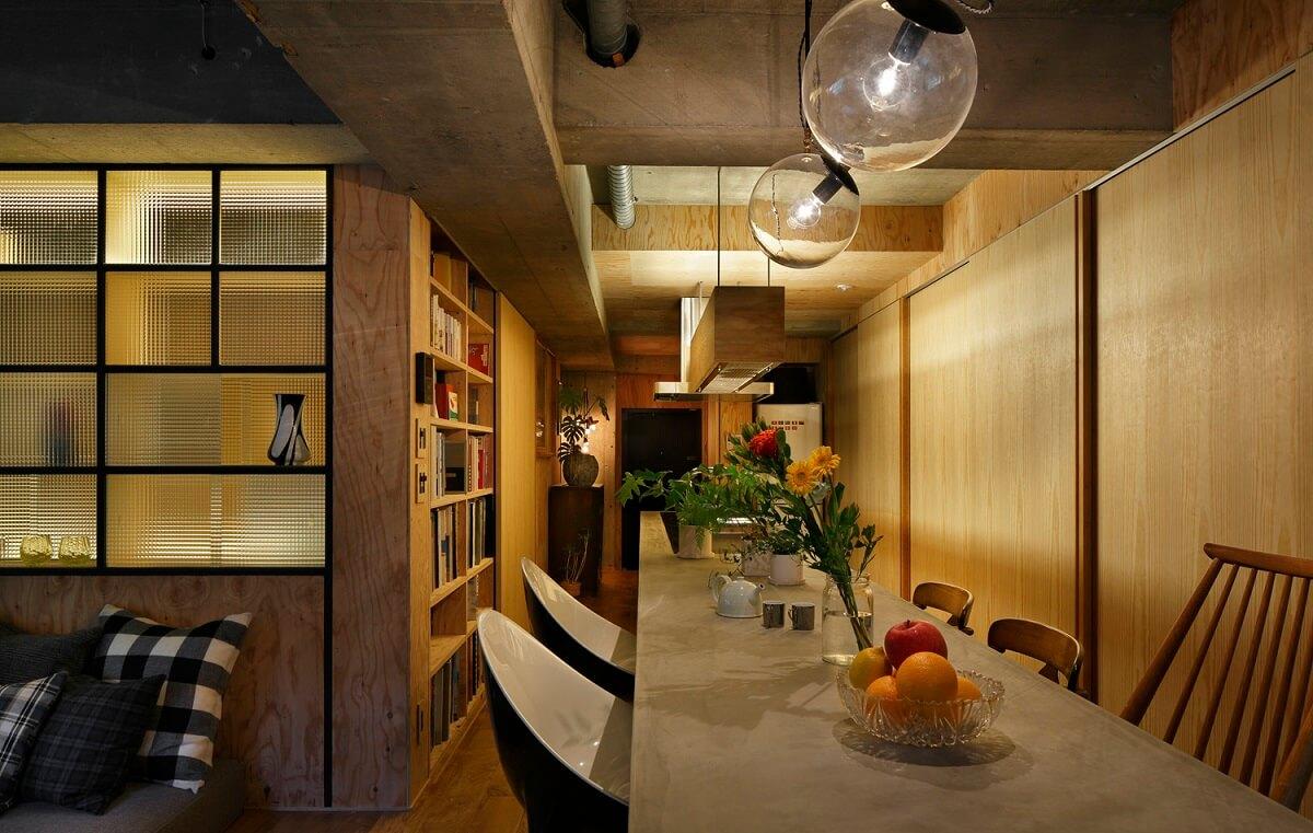 Phong Cách Phòng Bếp Đơn Giản Hài Hòa Cùng Bàn Ghế Cách Điệu