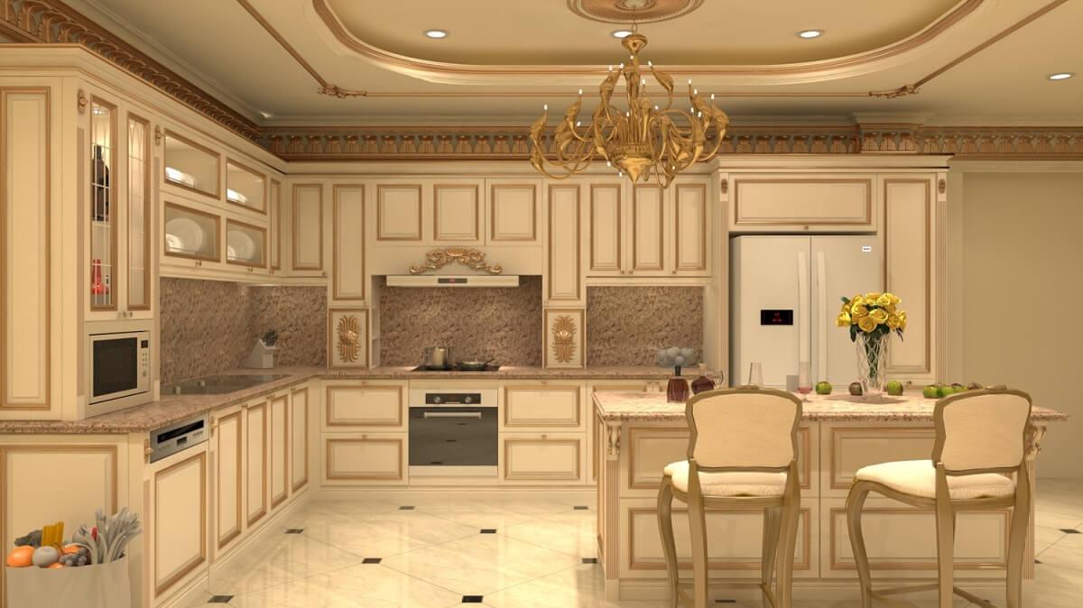 Thiết Kế Phòng Bếp Theo Phong Cách Cổ Điển