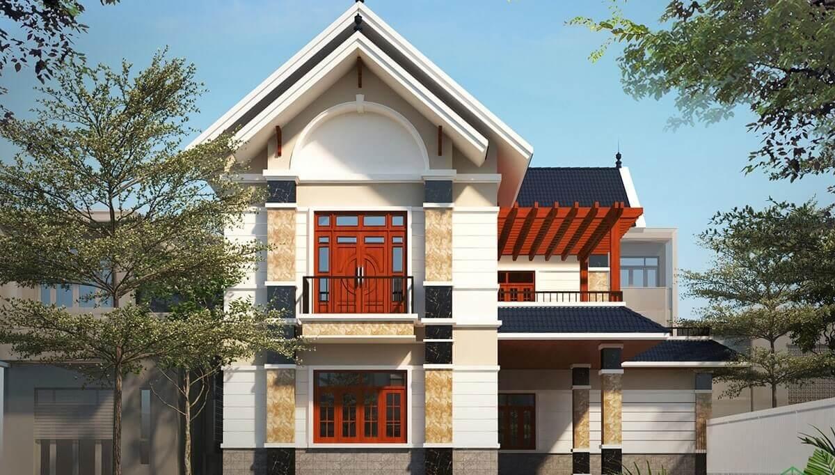 Nhà 2 Tầng Chữ L Mái Thái