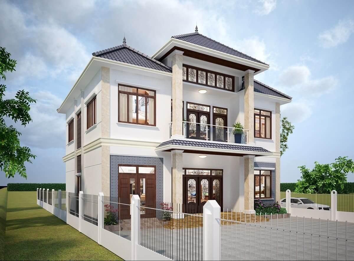 Nhà 2 Tầng Vuông Mái Thái