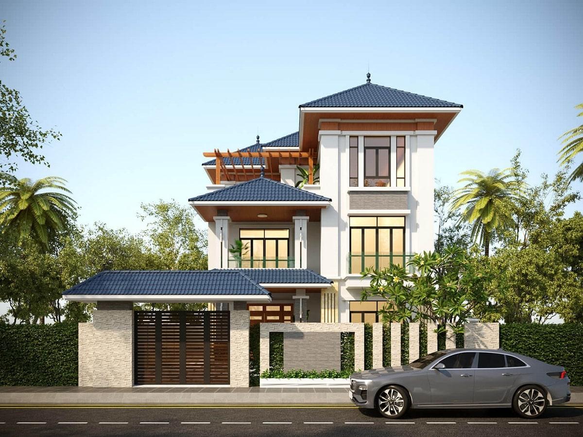 Nhà 3 Tầng Mái Thái Hiện Đại