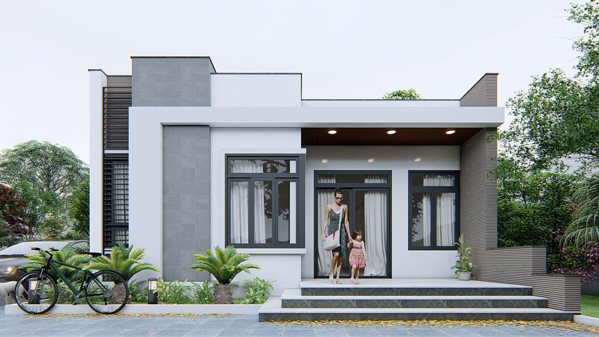 Nhà Cấp 4 Đẹp Với Mái Bằng Đơn Giản
