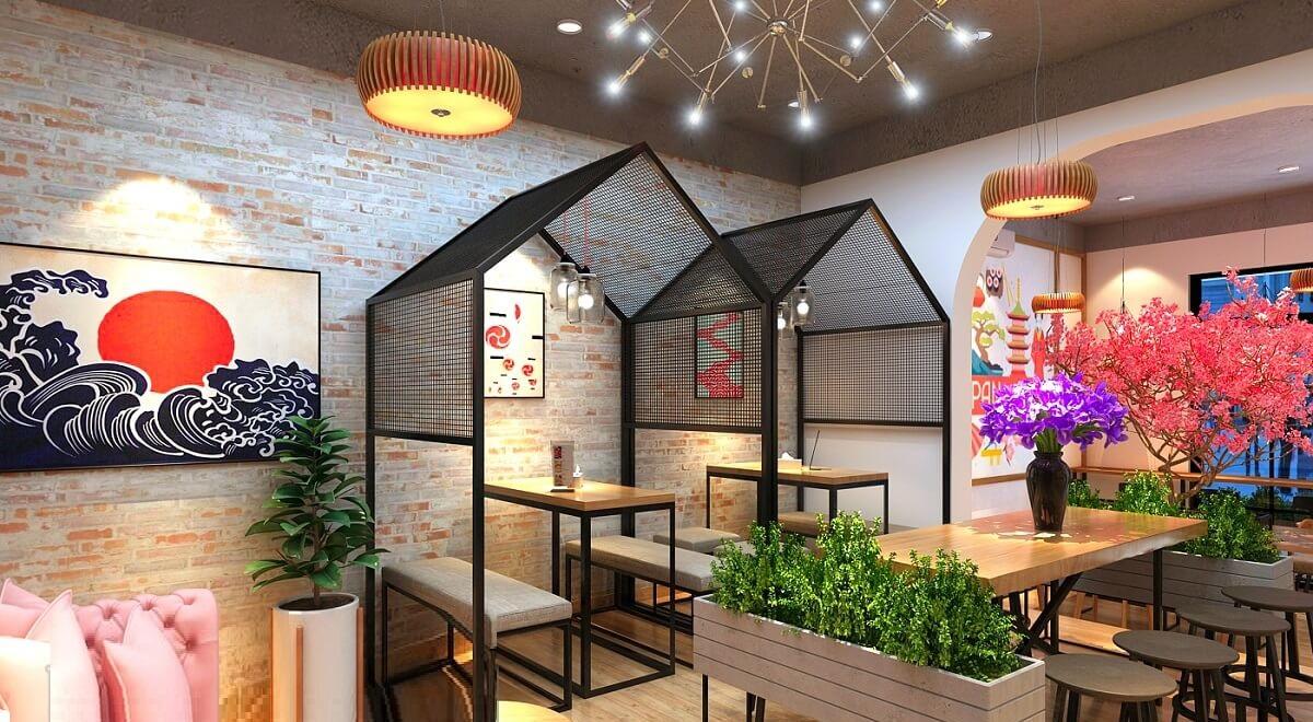 Thiết Kế Quán Cafe Nhà Hàng Nhật Bản