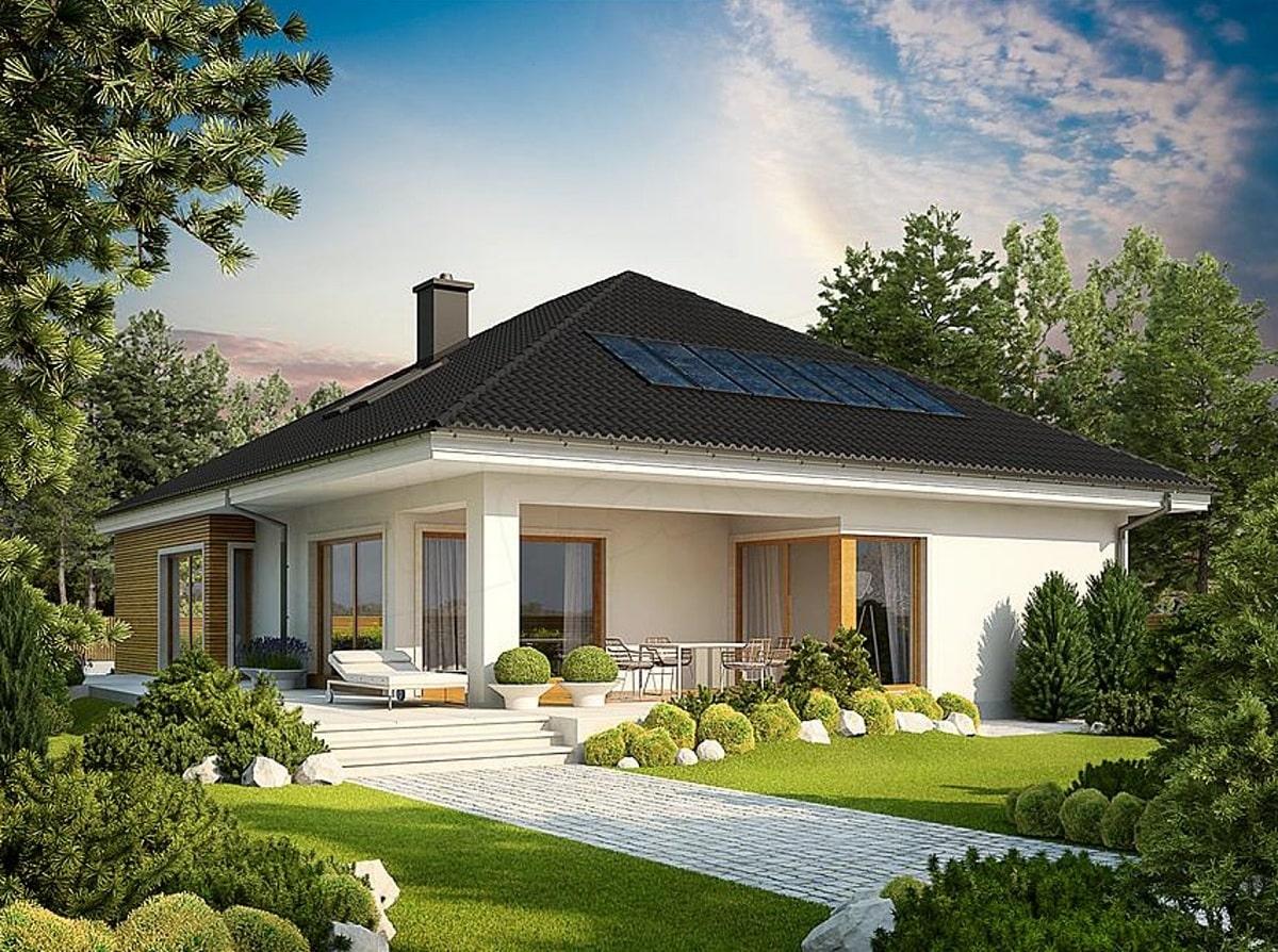 Thiết kế biệt thự 1 tầng với sân vườn