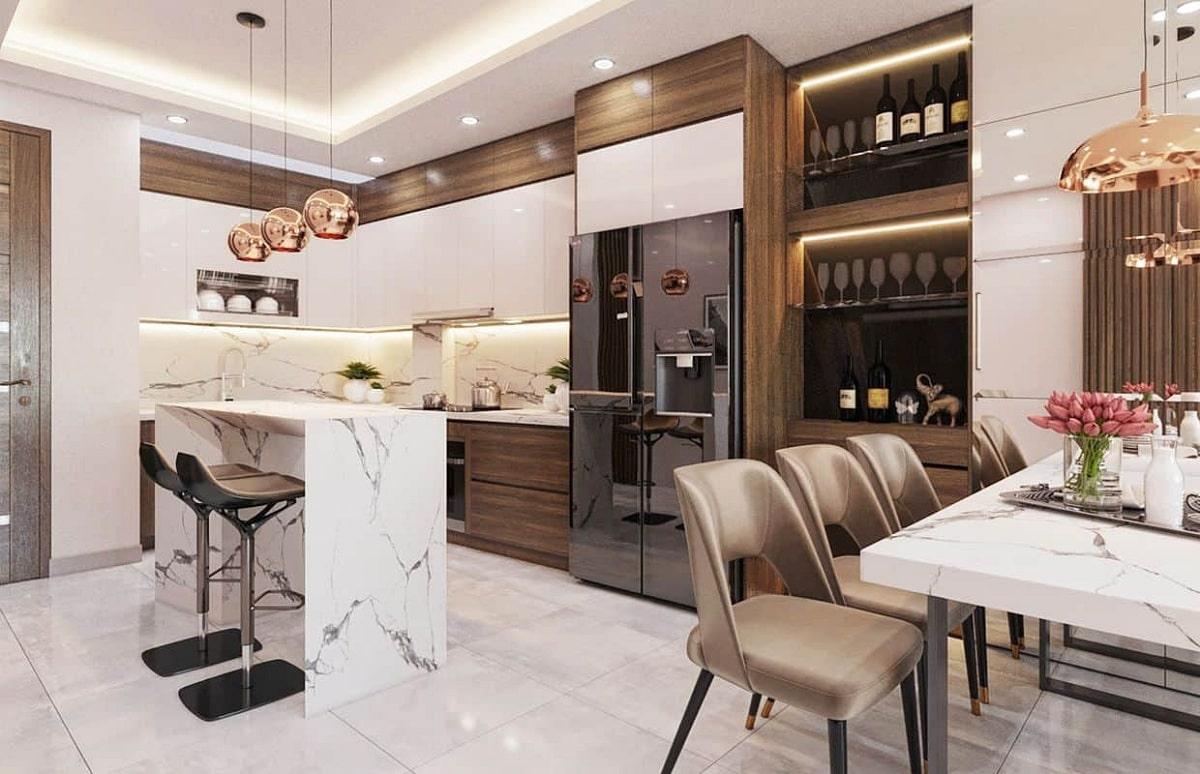 Thiết Kế Thi Công Nội Thất Phòng Bếp Đẹp