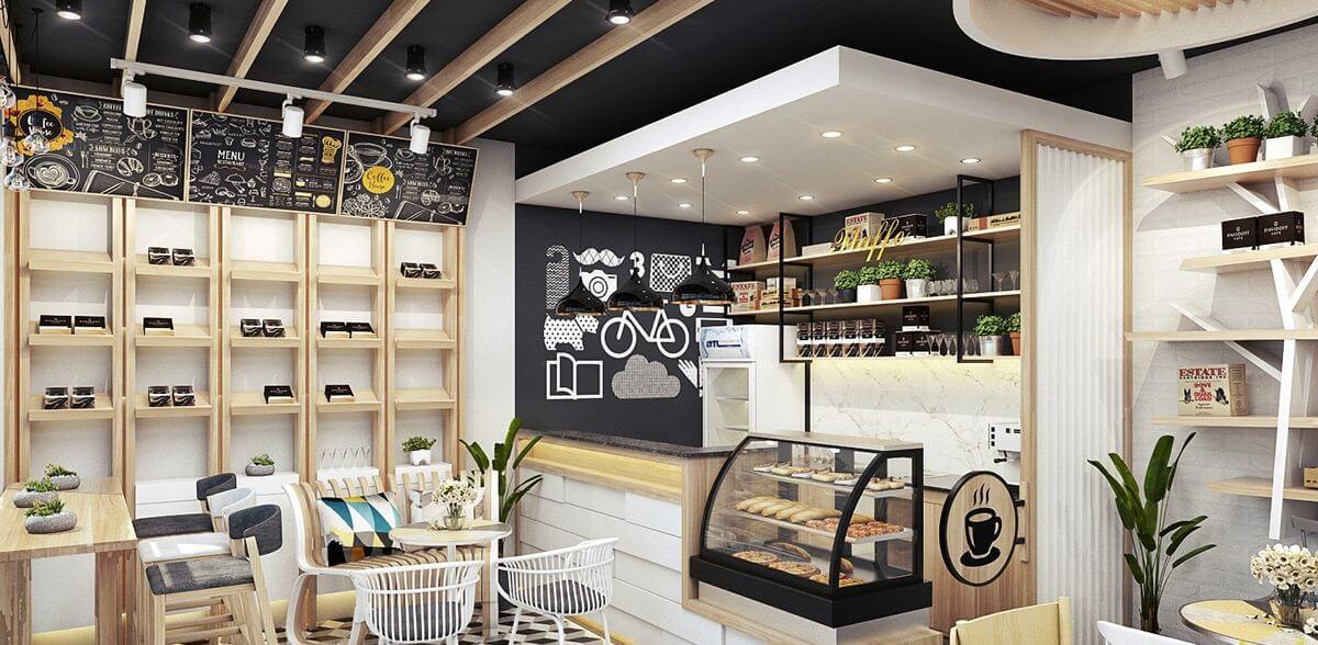 Mẫu Quán Cafe Ấn Tượng