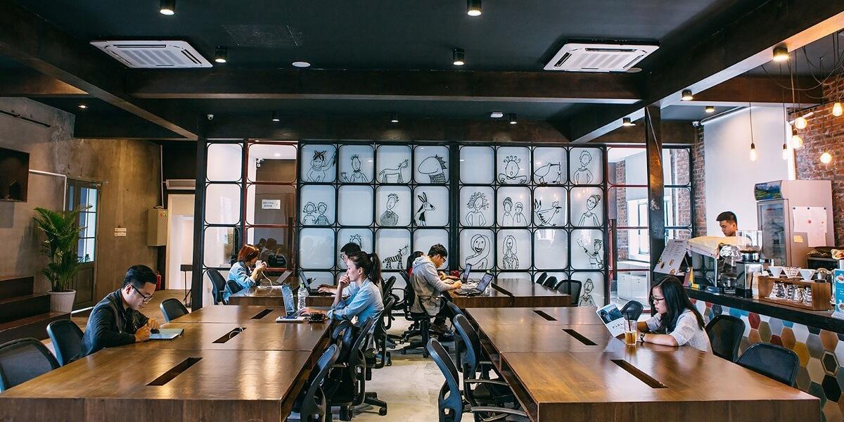 Nội Thất Cafe Đối Với Không Gian Làm Việc Và Học Tập