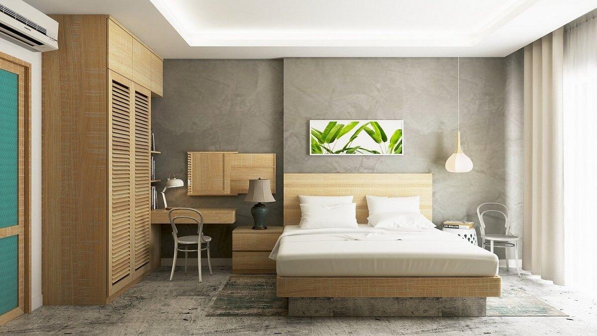Nội Thất Phòng Ngủ Khách Sạn Mini Đơn Giản