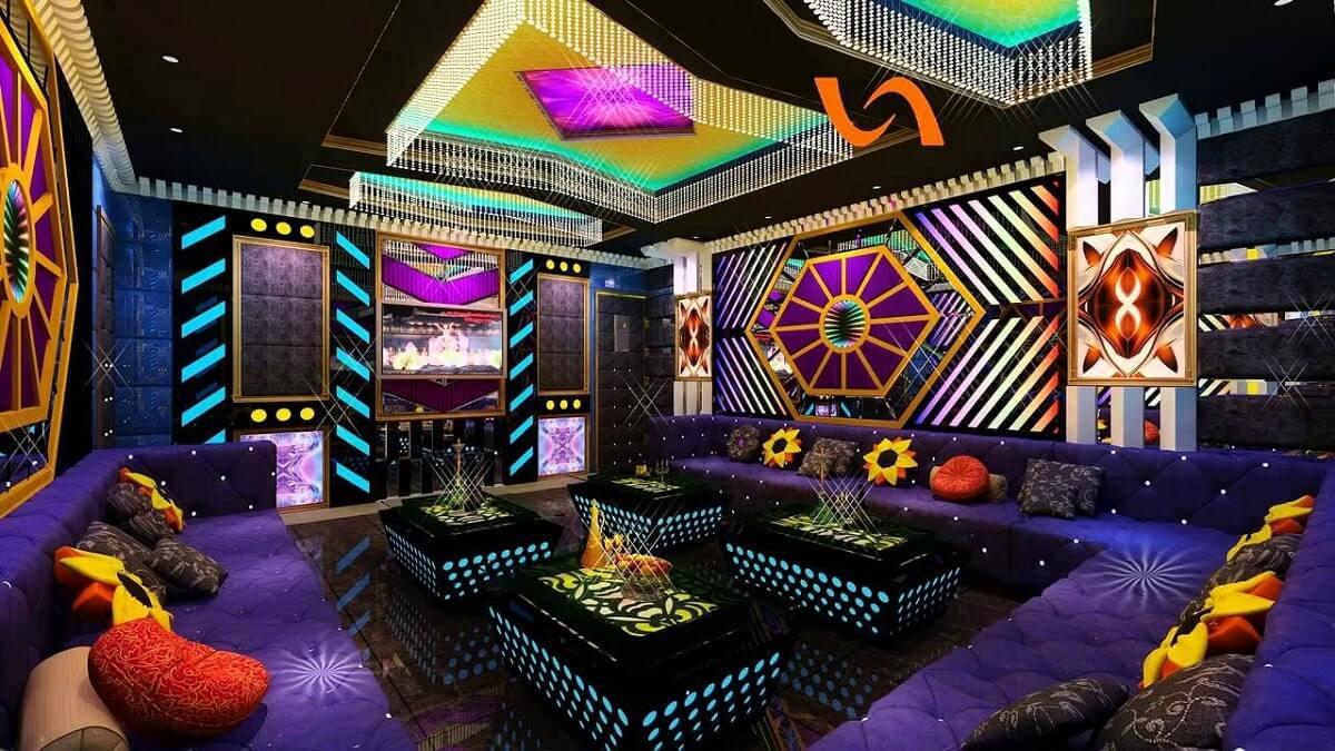 Phòng Karaoke Hiện Đại Nhiều Màu Sắc