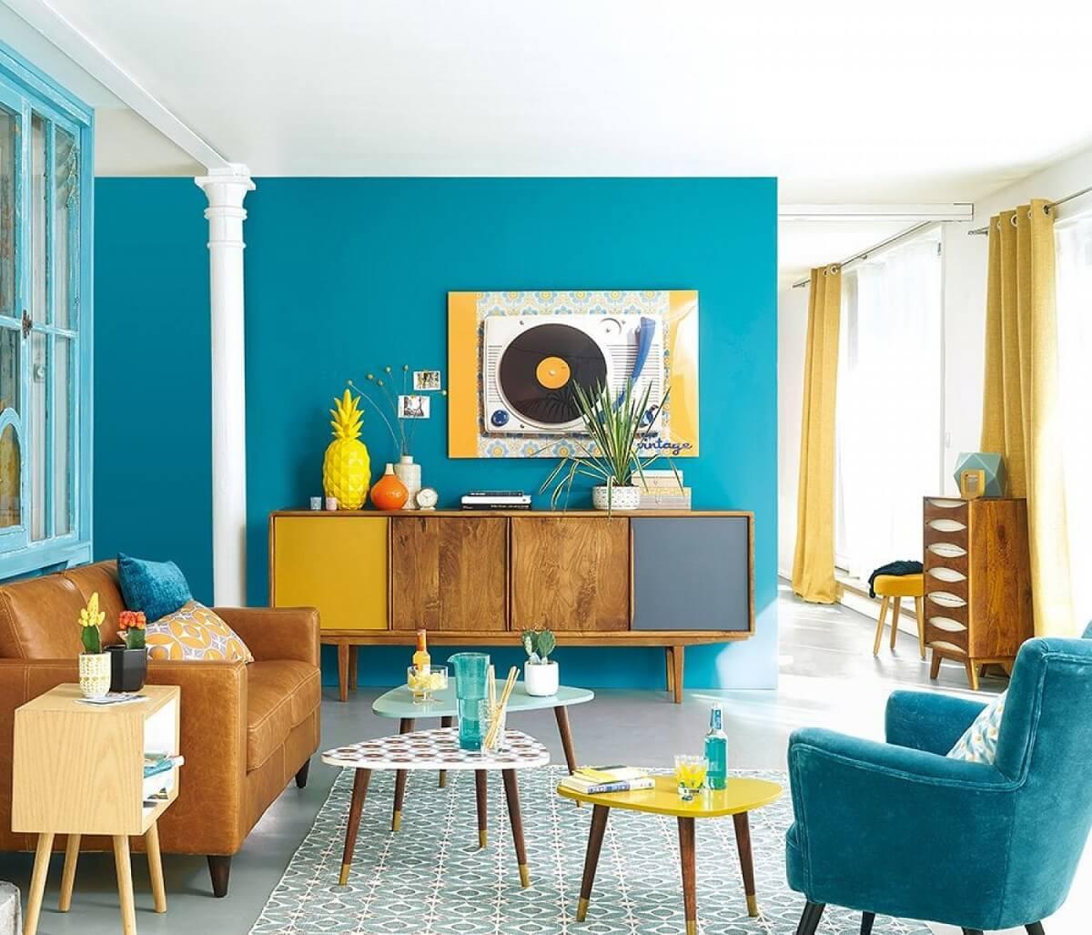 Thiết Kế Phòng Khách Với Phong Cách Vintage Có Màu Sắc Hài Hòa