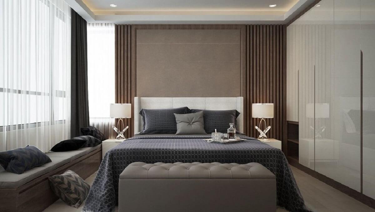 Phòng Ngủ Khách Sạn Với Gam Màu Tối
