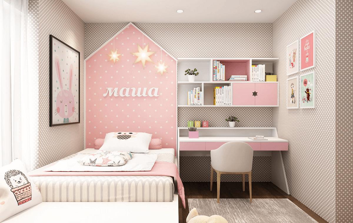 Trang Trí Phòng Ngủ Cho Bé Gái Với Các Họa Tiết Sinh Động