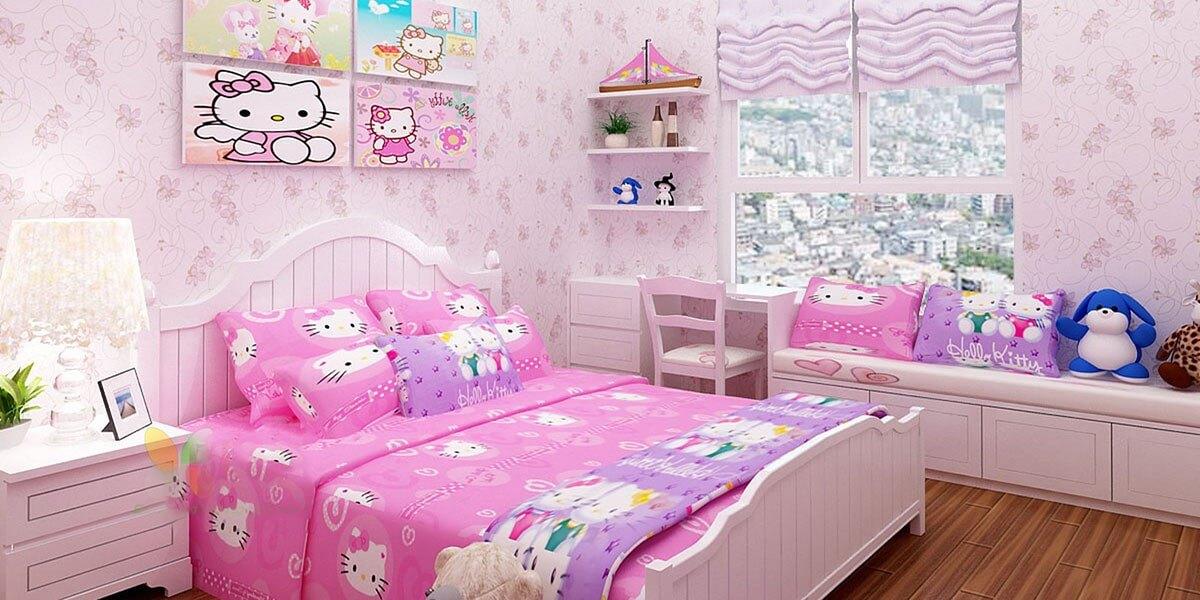 Trang Trí Phòng Ngủ Cho Bé Gái Với Giường Công Chúa Nhỏ