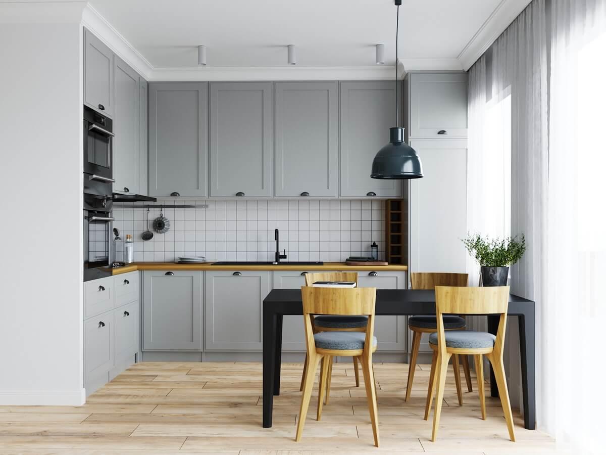 Chọn Bàn Ghế Ăn Một Cách Thông Minh Cho Phòng Bếp Chung Cư Đẹp