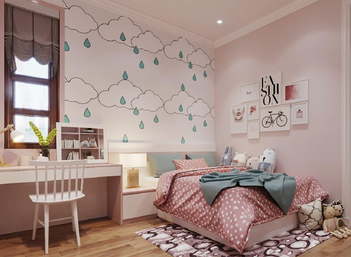 Decor Phòng Ngủ Đơn Giản Bằng Giấy Dán Tường