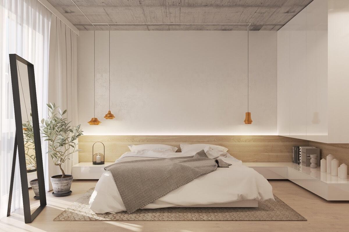 Mẫu Phòng Ngủ Cho Người Thích Gam Màu Trầm