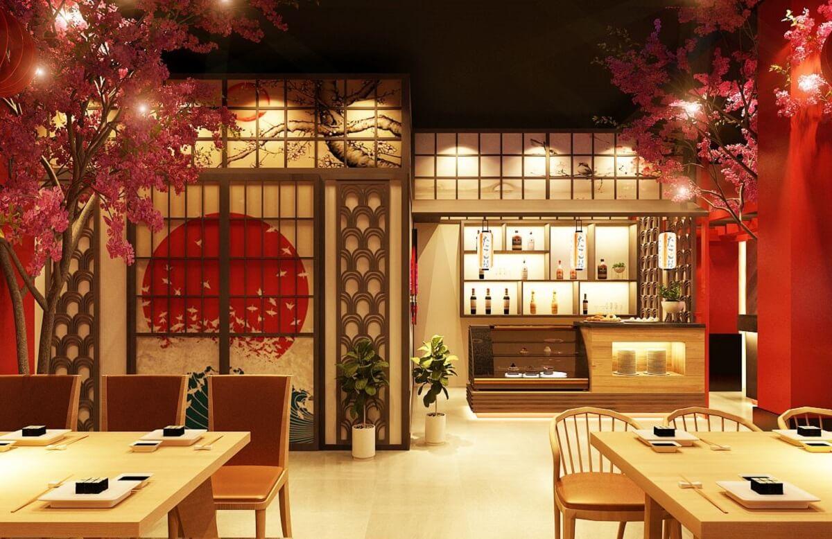 Thiết kế nhà hàng phong cách Nhật Bản