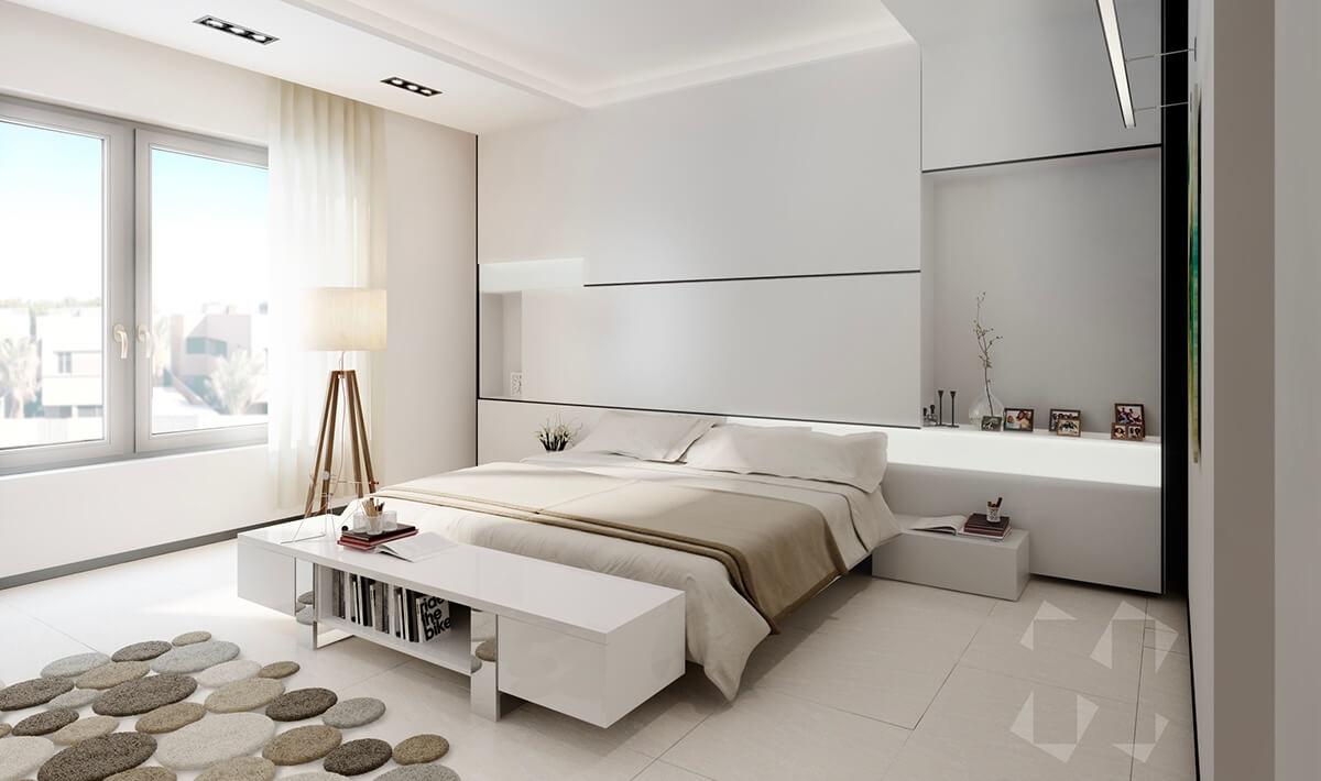 Phòng Ngủ Hiện Đại Đẹp Với Phong Cách Tối Giản