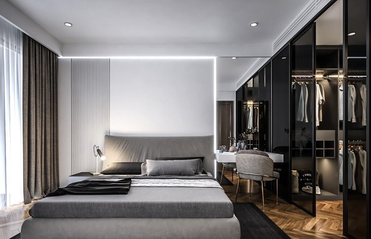 Phòng Ngủ Master Đẹp Cho Người Thích Tone Màu Tối