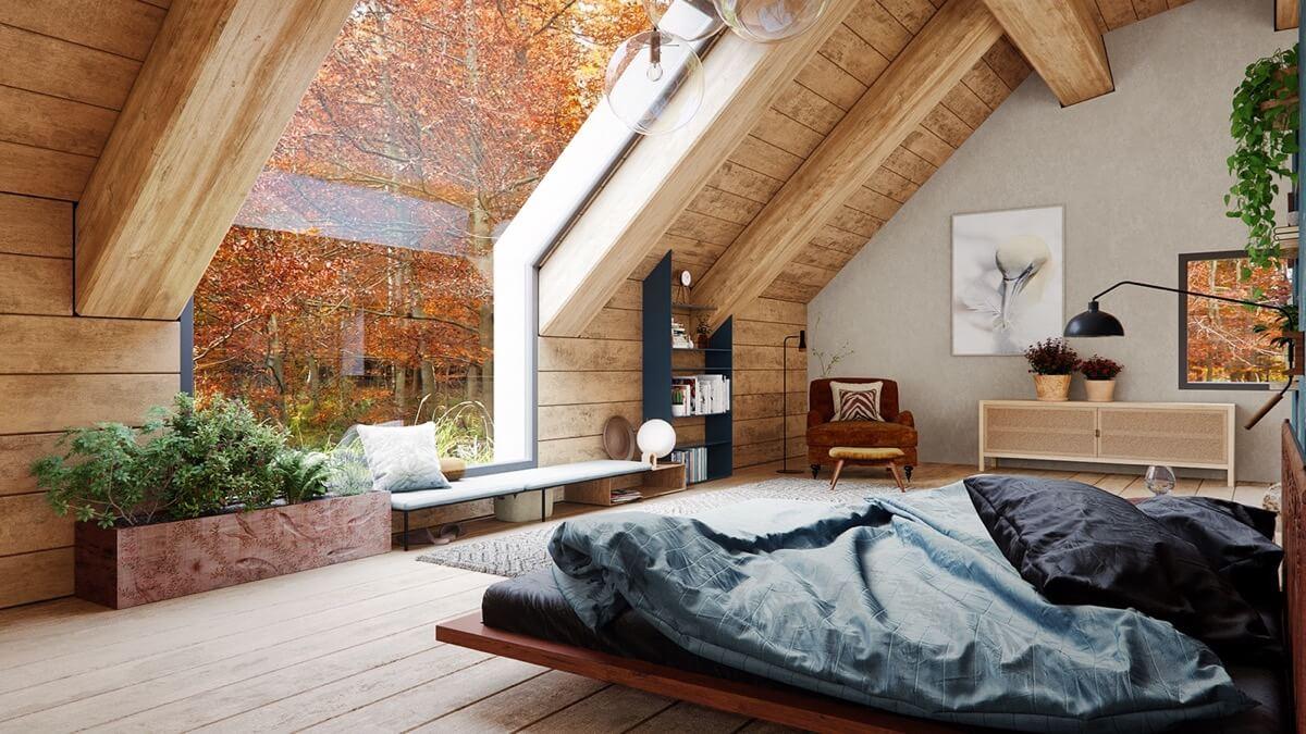 Tạo Không Gian Mở Giữa Các Khu Vực Với Phòng Ngủ