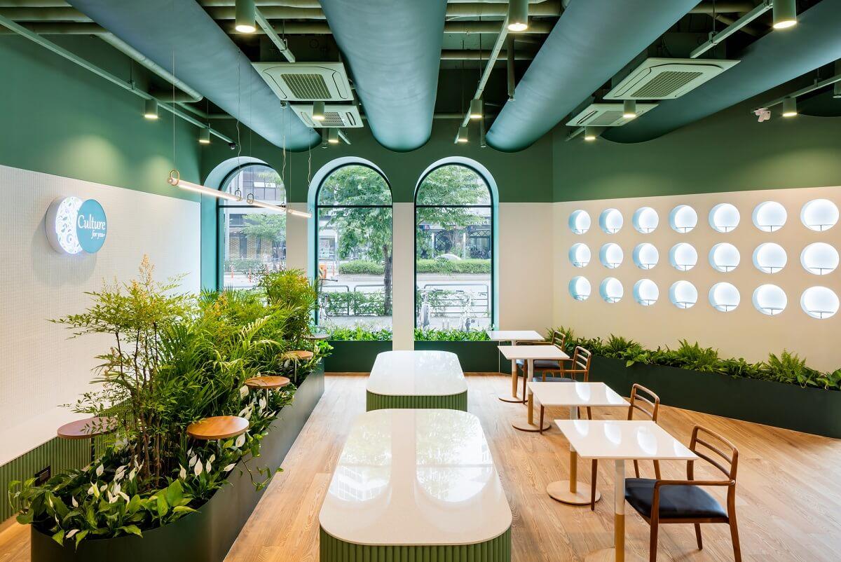 Thiết Kế Quán Cafe Phong Cách Hiện Đại Năng Động Trẻ Trung