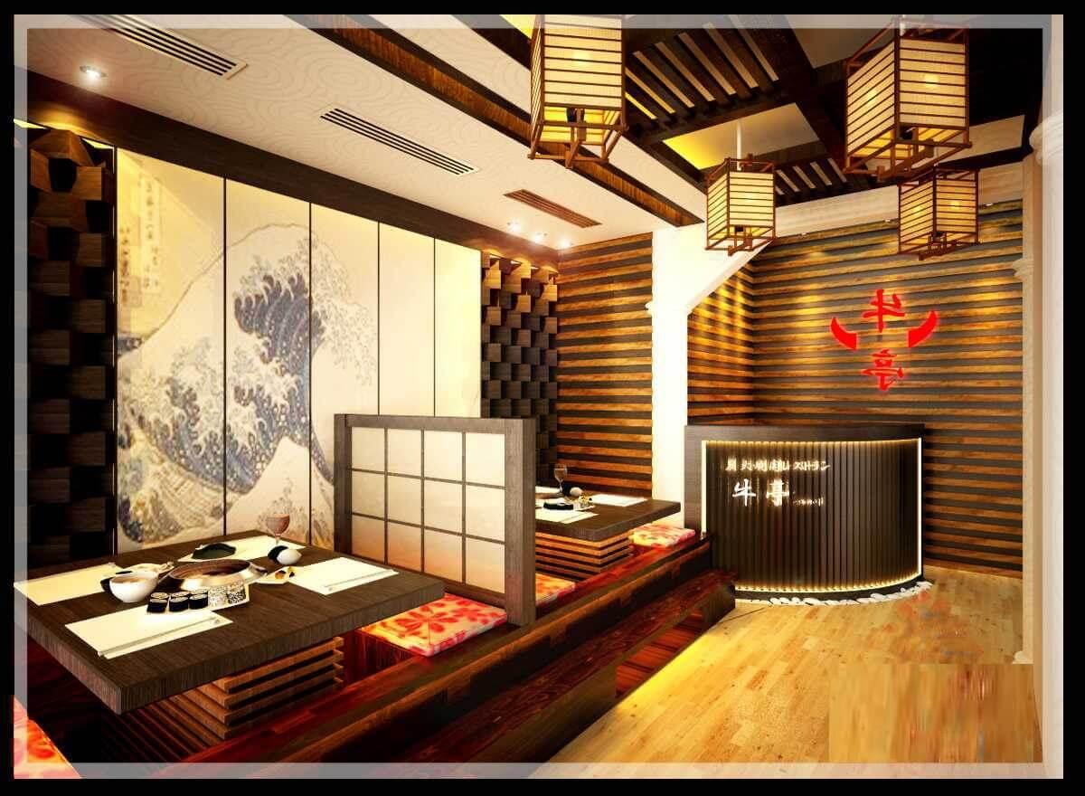 Mẫu Thiết Kế Nhà Hàng Đẹp Theo Phong Cách Nhật Bản