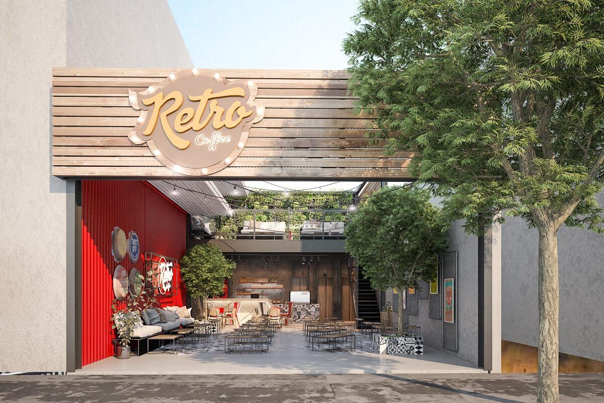 Thiết Kế Quán Cafe Mặt Tiền Với Phong Cách Hiện Đại